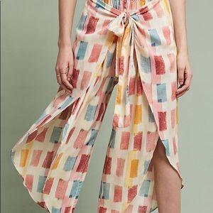 Anthropologie Lilka Watercolor Wrap Pants